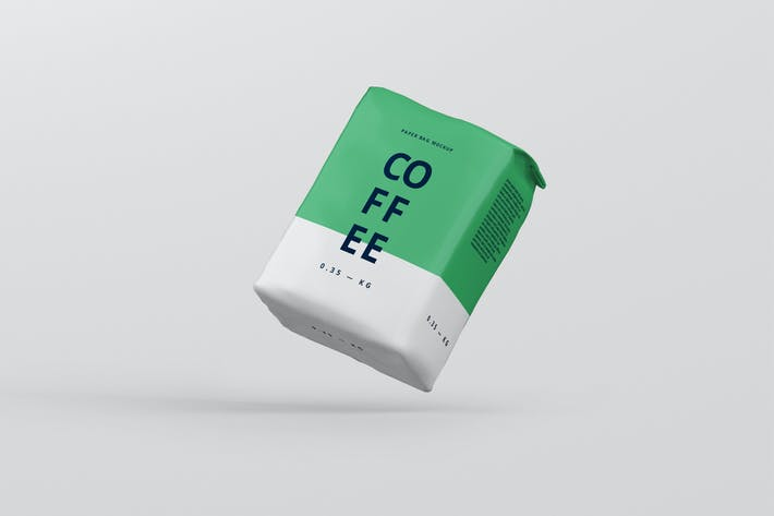 Thumbnail for Coffee Paper Bag Mockup Medium Size
