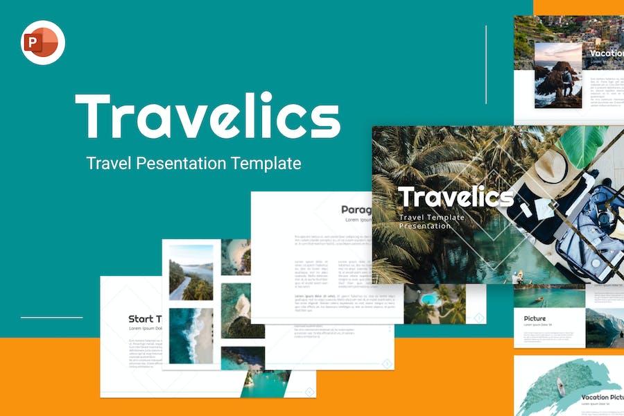 Travelics Travel Creative PowerPoint Template