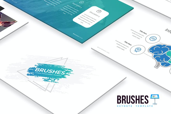 Thumbnail for Brushes Keynote Template