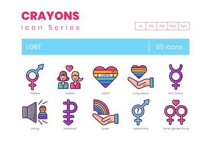 65 LGBT Line Icons