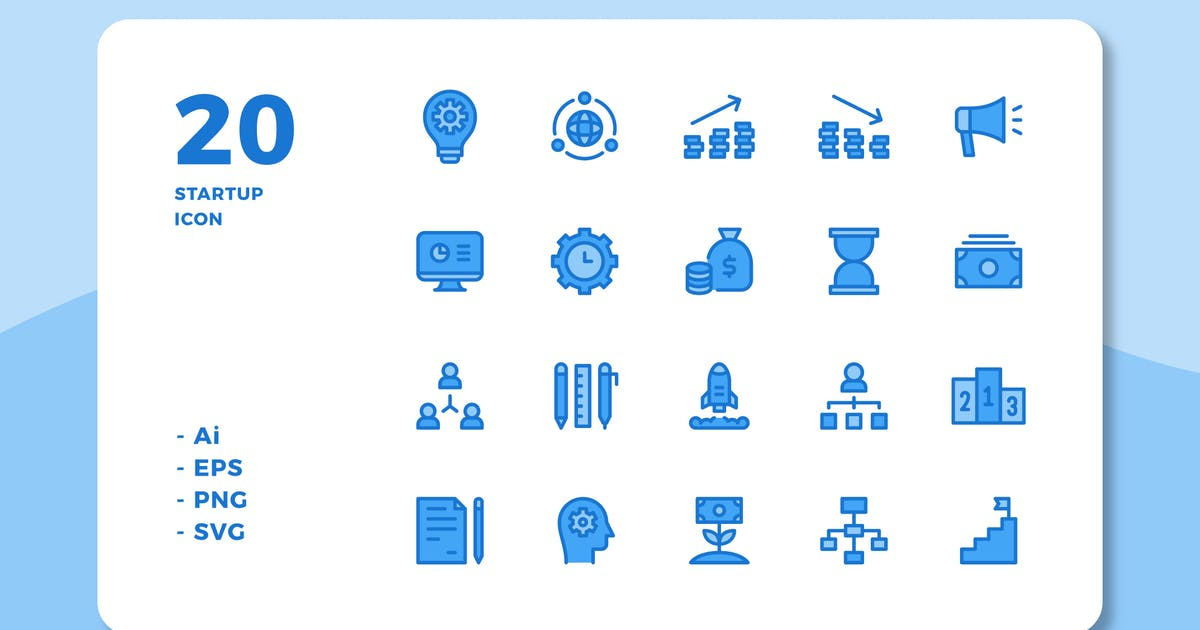 Download 20 Startup Icons (Lineal Color) by deemakdaksinas
