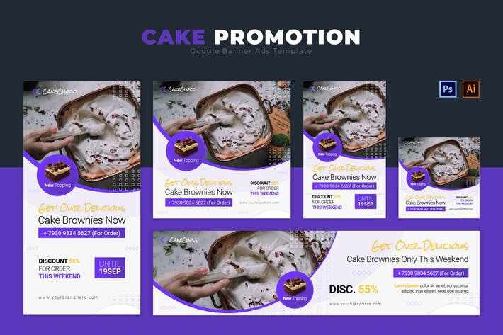 Thumbnail for Cake Promotion | Google Banners Ads