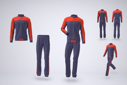 Tracksuit Jacket and Bottoms Mock-up