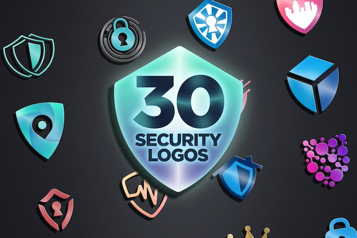 Thumbnail for 30 Security Themed Logos
