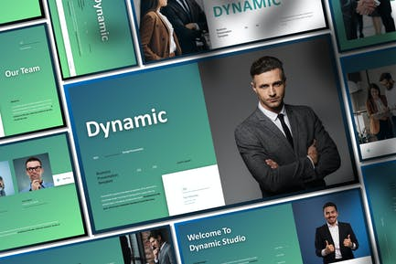 Dynamic Business Presentation PowerPoint Template