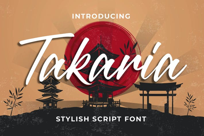 Thumbnail for Takaria - una fuente elegante de Sciprt