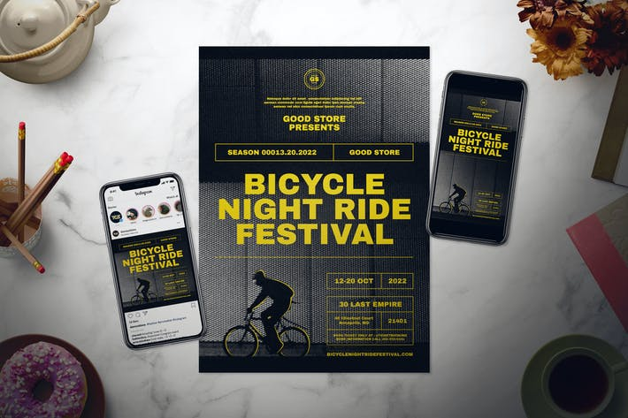 Thumbnail for Bicycle Event Flyer Set