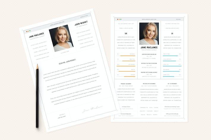 Thumbnail for UX UI - CV Resume