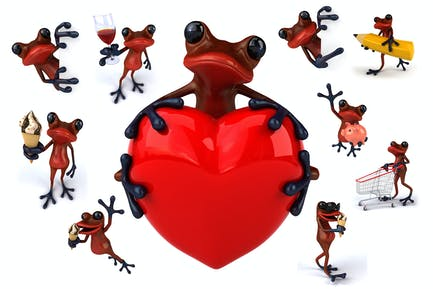 10 Red Frogs !