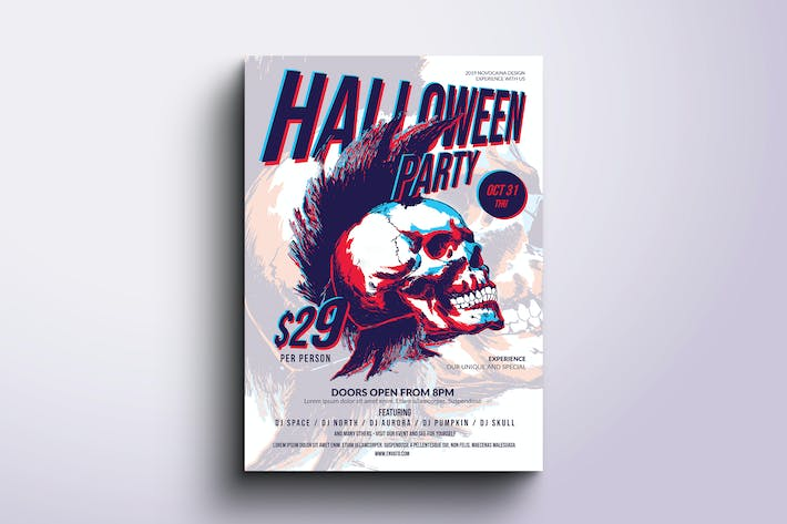 Thumbnail for Funky Halloween Poster & Flyer v6