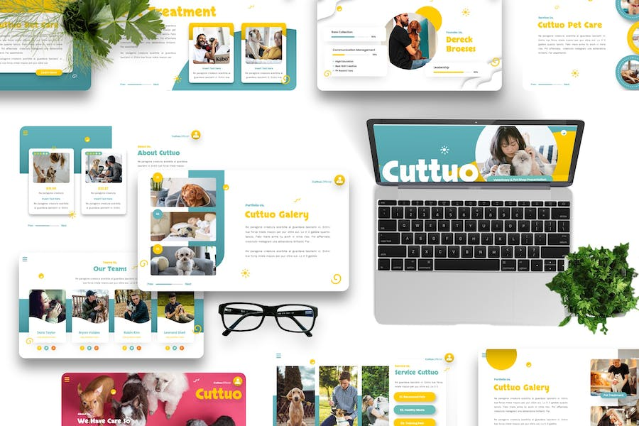 Cuttuo - Pets Care & Animal Keynote Templates