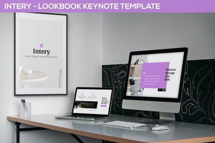 Thumbnail for Intery - Шаблон Keynote Lookbook