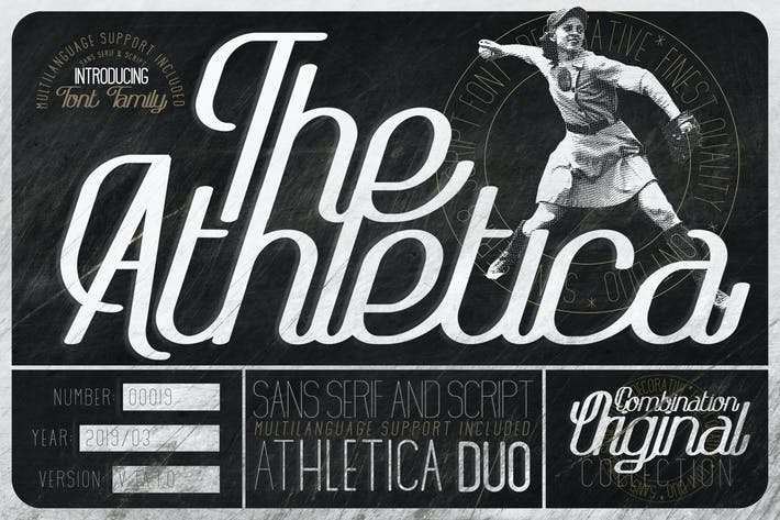 Thumbnail for The Athletica Font