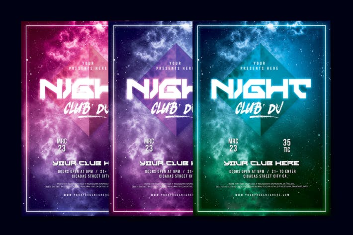 Thumbnail for Night Club DJ Flyer