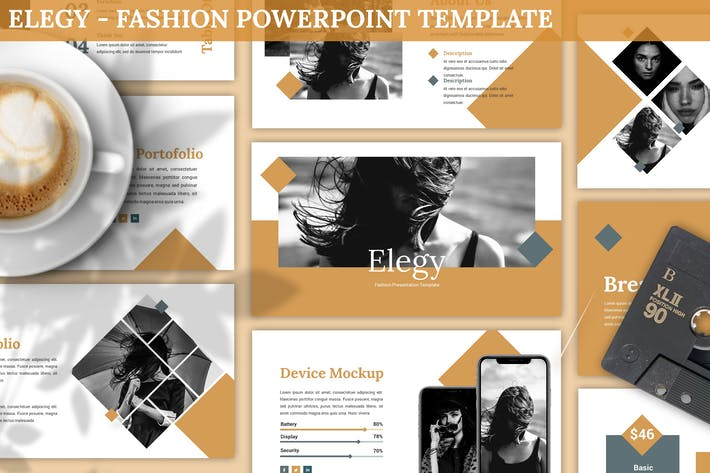 Thumbnail for Elegy - Fashion Powerpoint Template