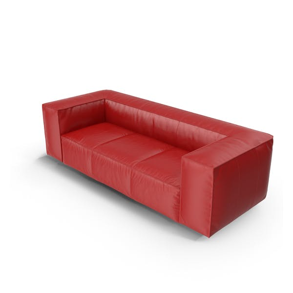 Thumbnail for Red Leather Sofa
