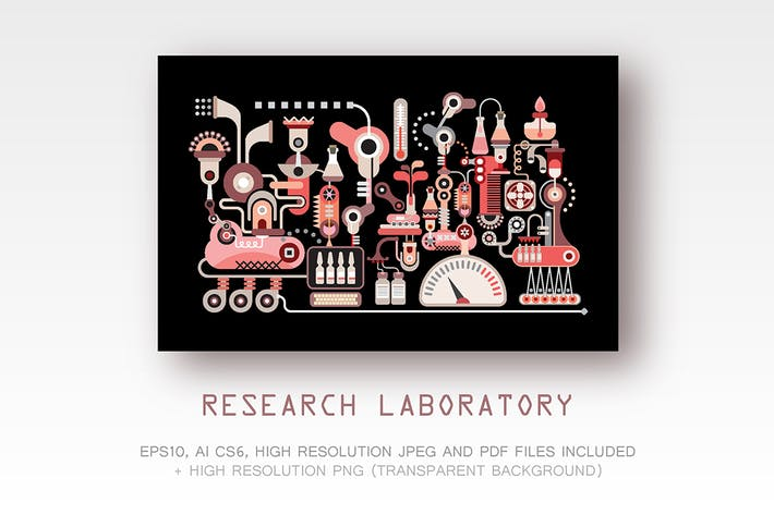 Thumbnail for Research Laboratory vector illustration