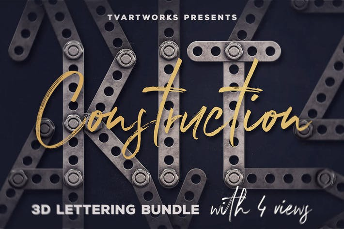 Thumbnail for Construction Kit 3D Lettering