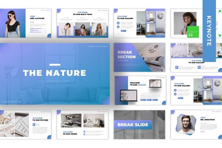 Thumbnail for The Nature - Business Keynote Template