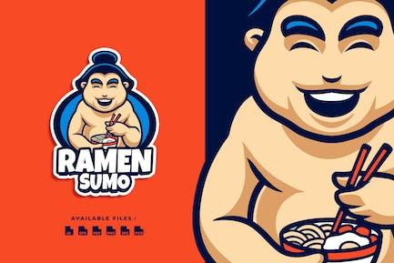 Ramen Sumo Cartoon Business Logo