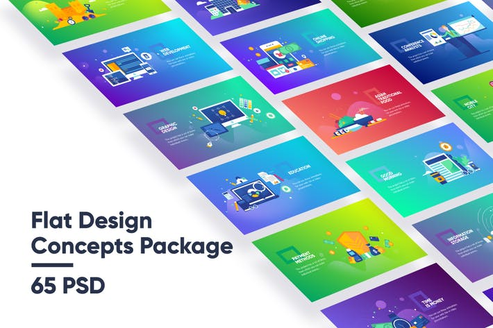 Thumbnail for Flat Design Concepts Package