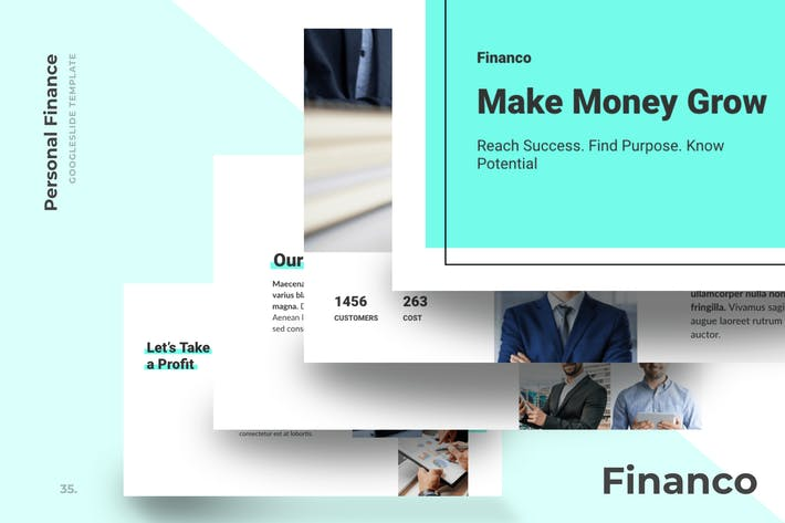 Thumbnail for Financo - Financial Advisor Google Slide Templates