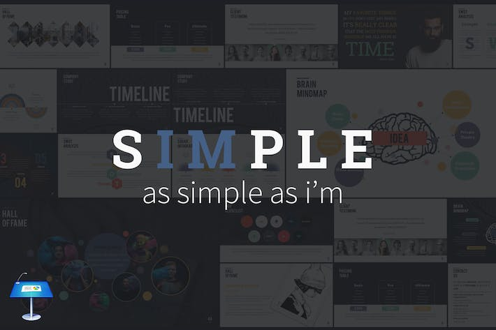 Thumbnail for SIMPLE - Keynote Presentation Template