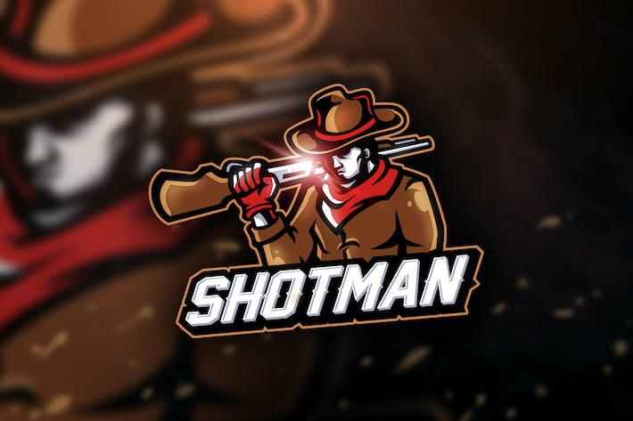 Thumbnail for Shotman - Mascot & Sport Logo