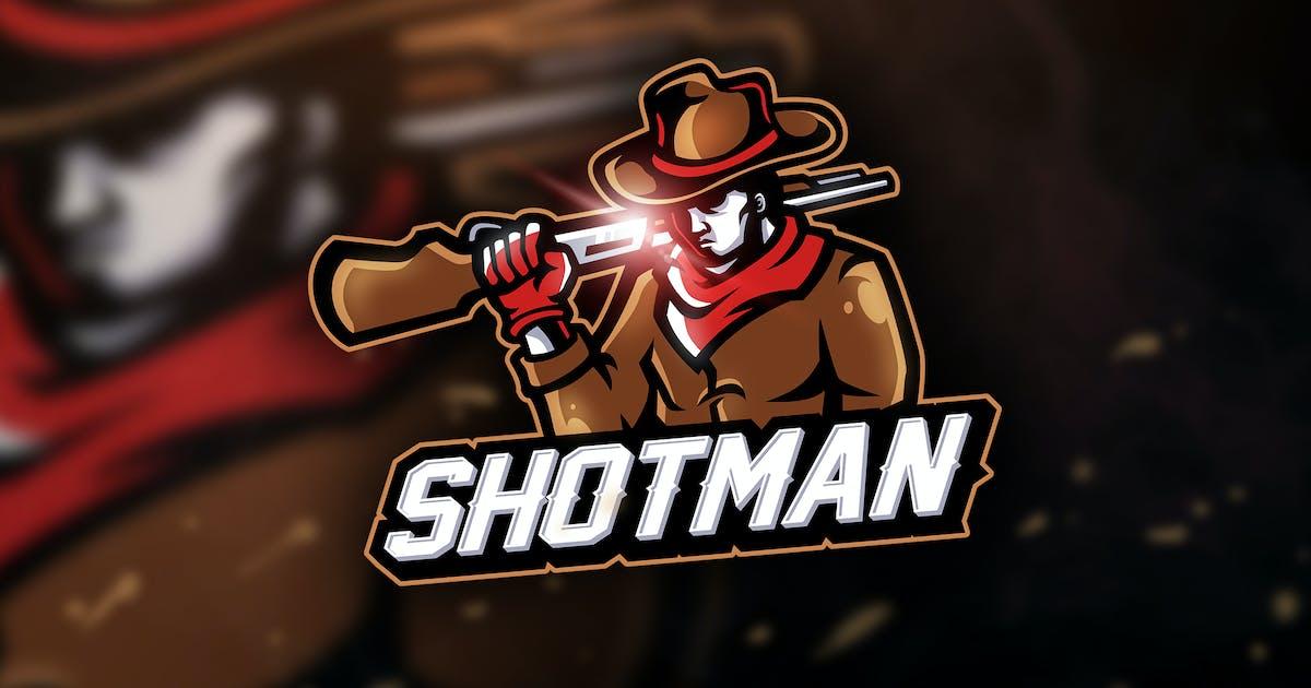 Download Shotman - Mascot & Sport Logo by aqrstudio