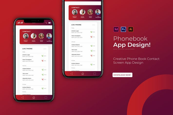 Thumbnail for Phonebook | App Template