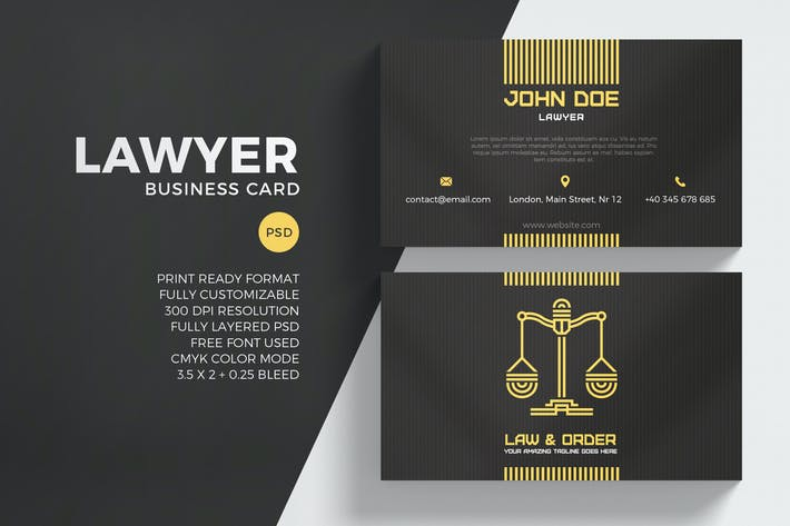 Thumbnail for Lawyer Business Card Template