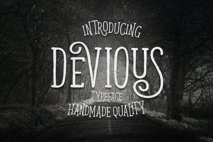 Thumbnail for Devious Typeface