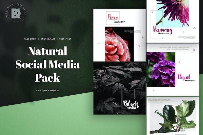 Thumbnail for Natural Eco Social Media Pack