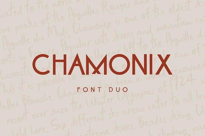 Thumbnail for Chamonix Font Duo