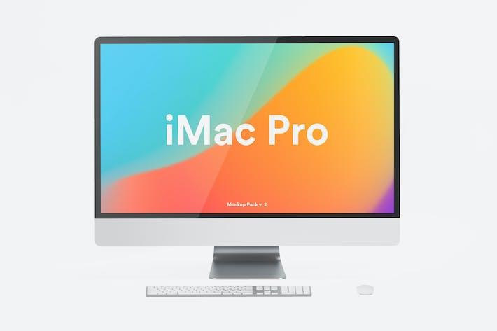 Cover Image For White iMac Pro Mockup