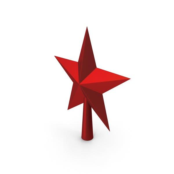 Christmas Star Golden Red