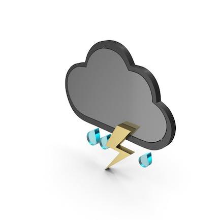 Wetter Icon Thunder Regen