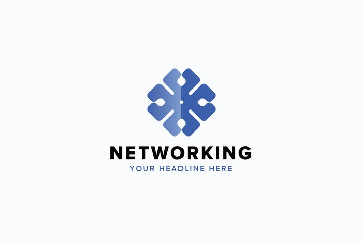 Thumbnail for Networking Logo Template