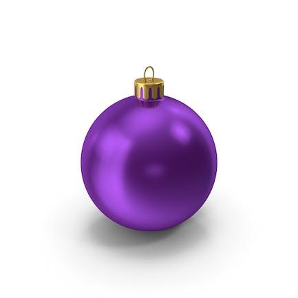 Фиолетовый Рождественский орнамент