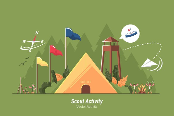 Thumbnail for Scout Activity - Vector Illustration