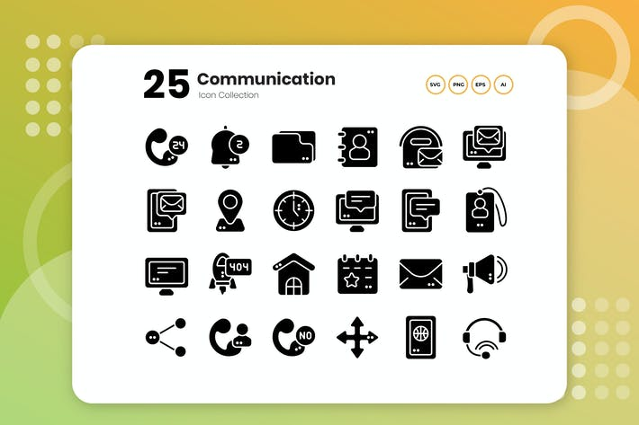 Thumbnail for 25 Communication Glyph Icon
