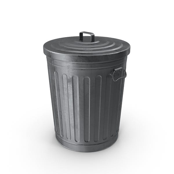 Abfalleimer aus verzinktem Stahl