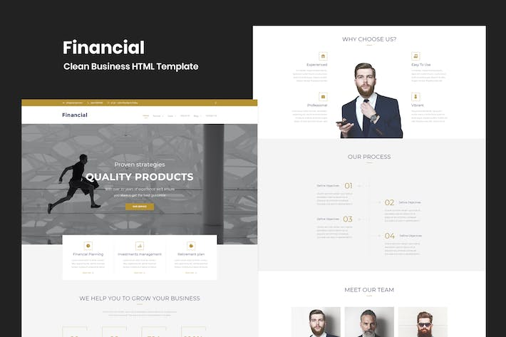 Thumbnail for Financial - Clean Business HTML Template
