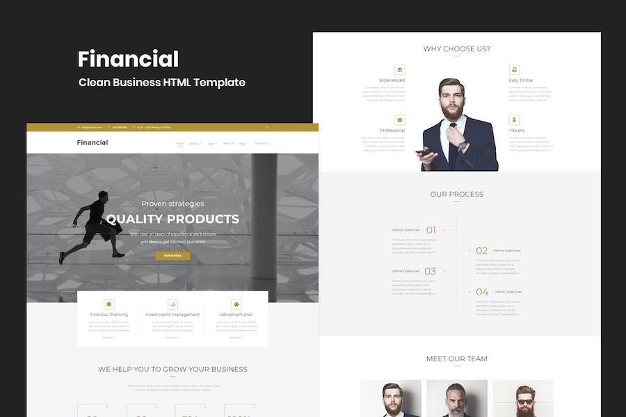 Financial - Clean Business HTML-Vorlage