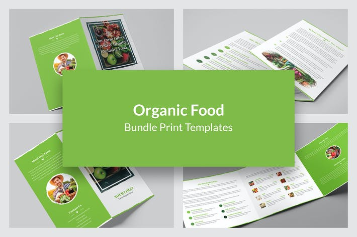 Thumbnail for Organic Food – Bundle Print Templates