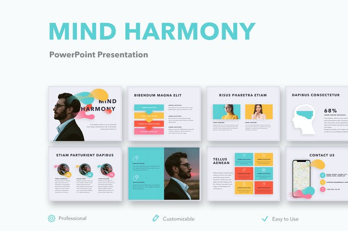 Thumbnail for Mind Harmony PowerPoint Template
