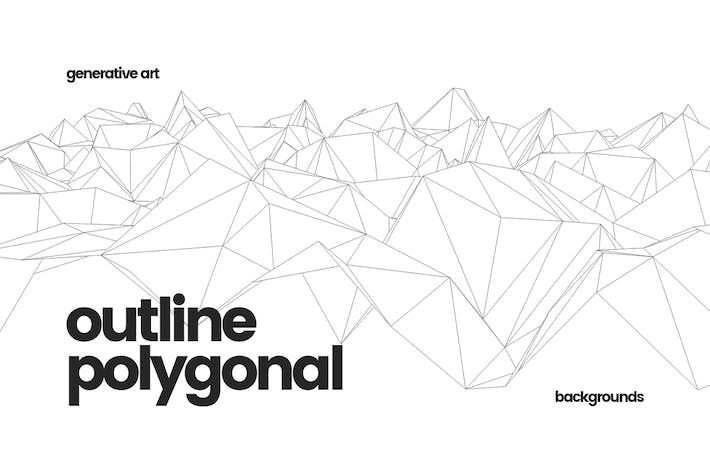 Thumbnail for Outline Geometric Polygonal Backgrounds