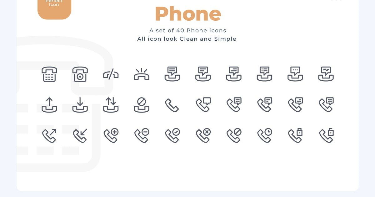 Download 40 Phone Icons - Material Icon by Justicon