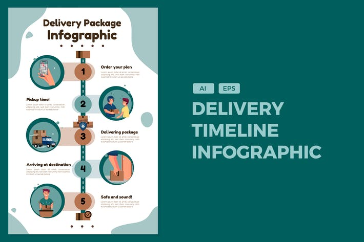 Thumbnail for Delivery Package - Timeline Infographics