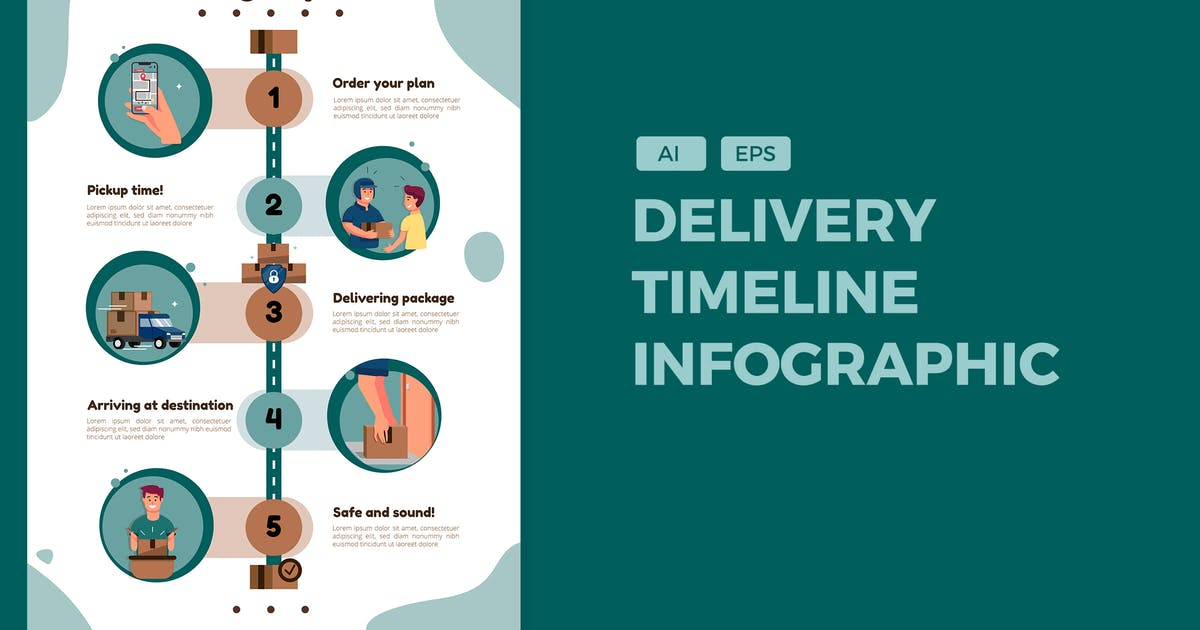 Download Delivery Package - Timeline Infographics by SlideFactory